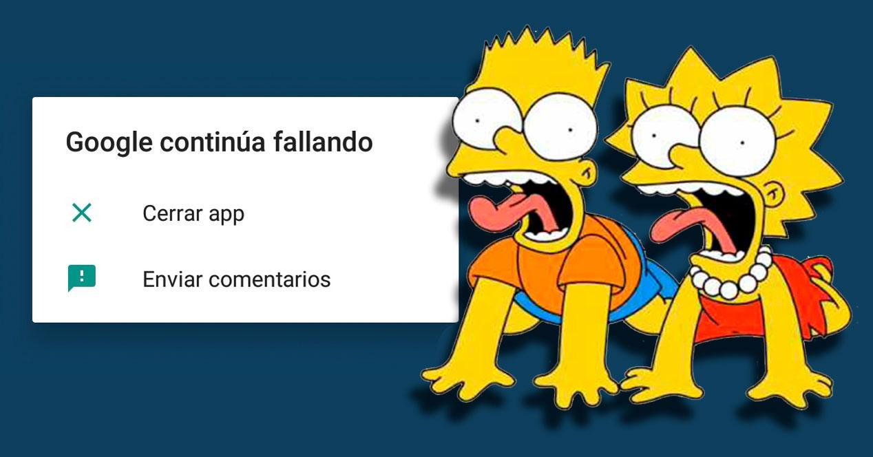 error google simpsons