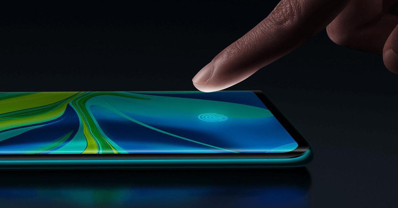 Huella dactilar móvil Xiaomi