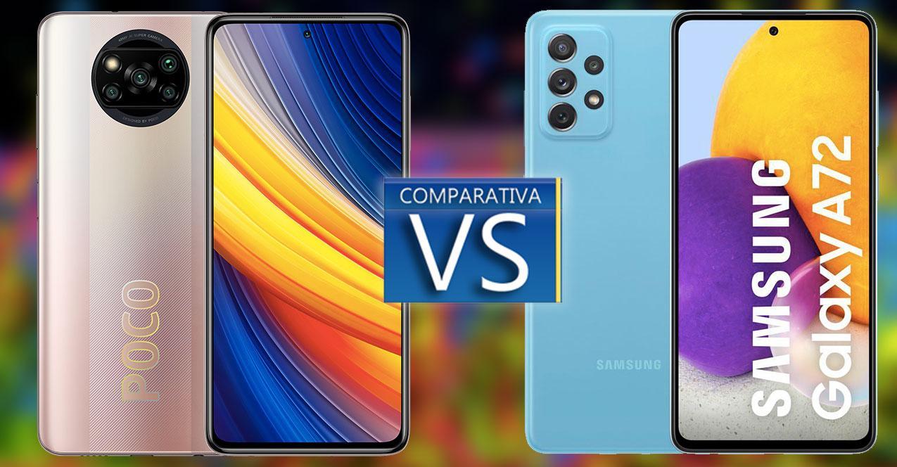 poco x3 pro vs galaxy a72
