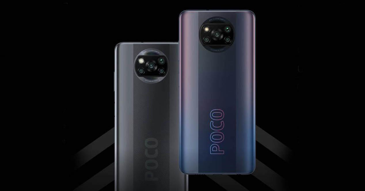 Poco X3 Pro fondo negro