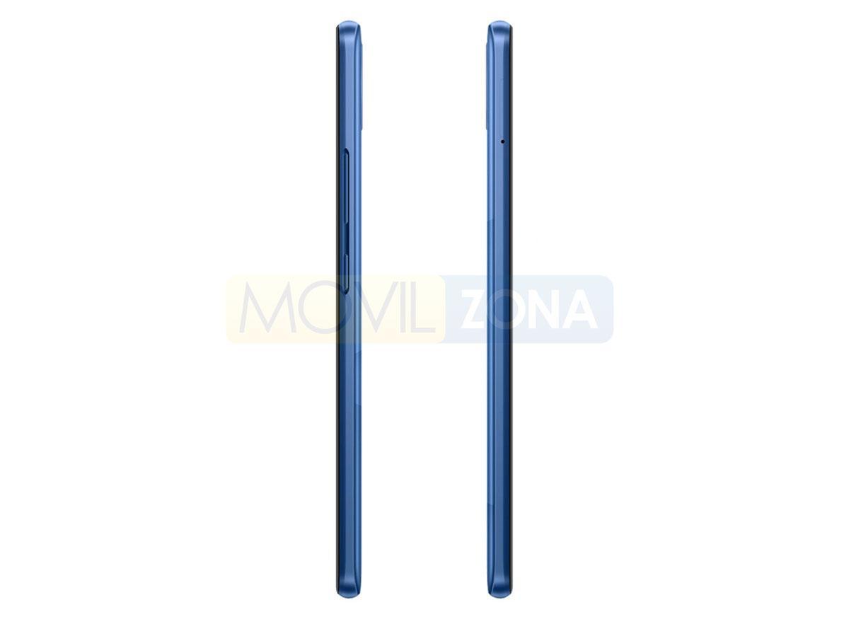 Realme C15 azul perfil