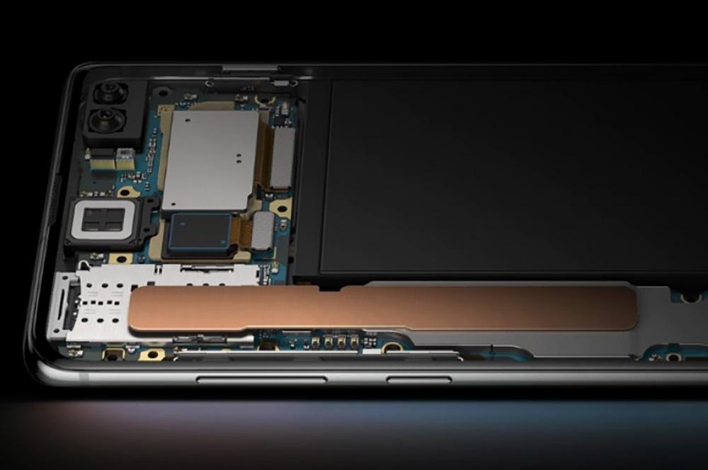 Dampkammer i en Samsung -mobil