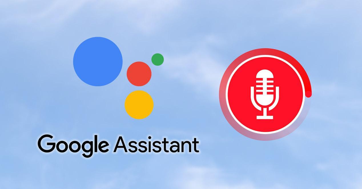 Grabación de voz del Asistente de Google