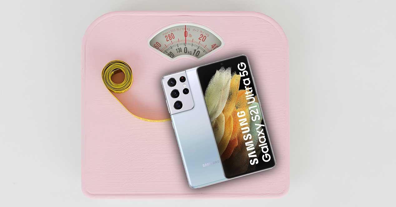 móviles pesados ligeros