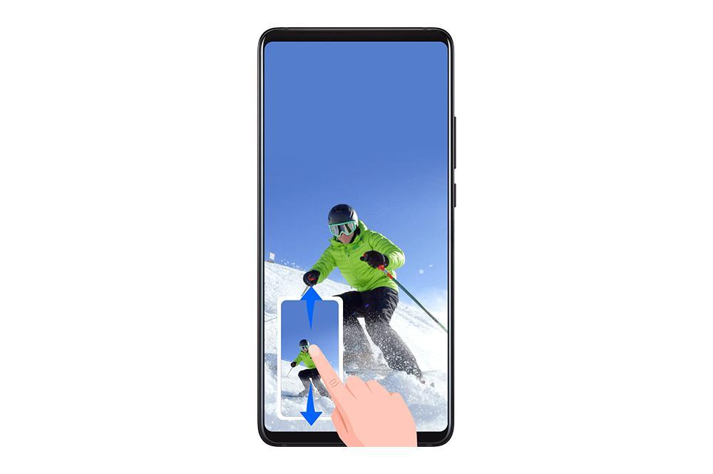 Captura de pantalla con desplazamiento en Huawei
