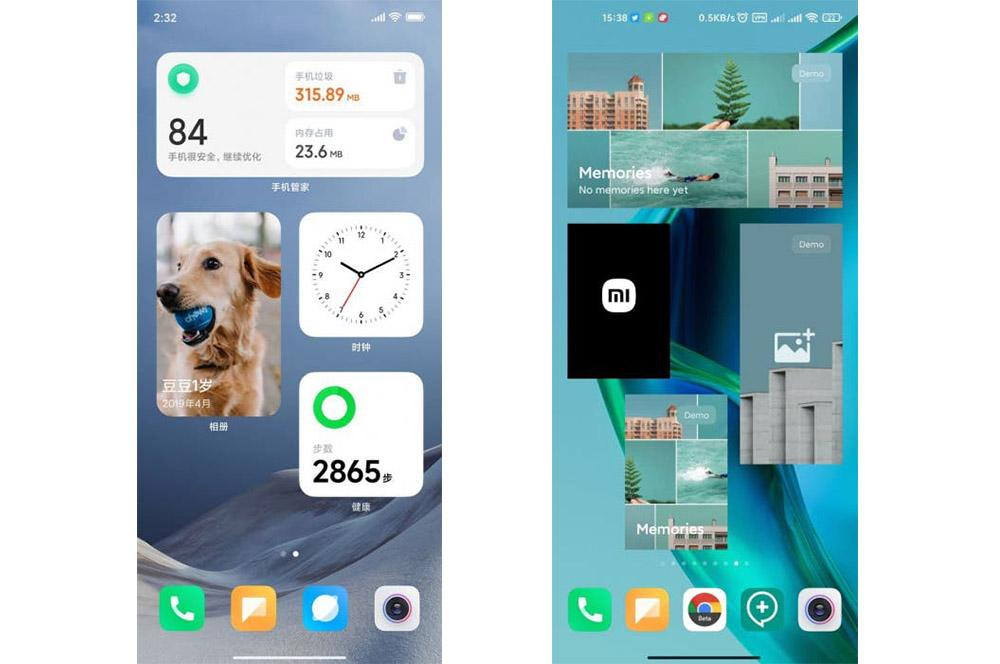 Nuevo diseño de los widgets de MIUI