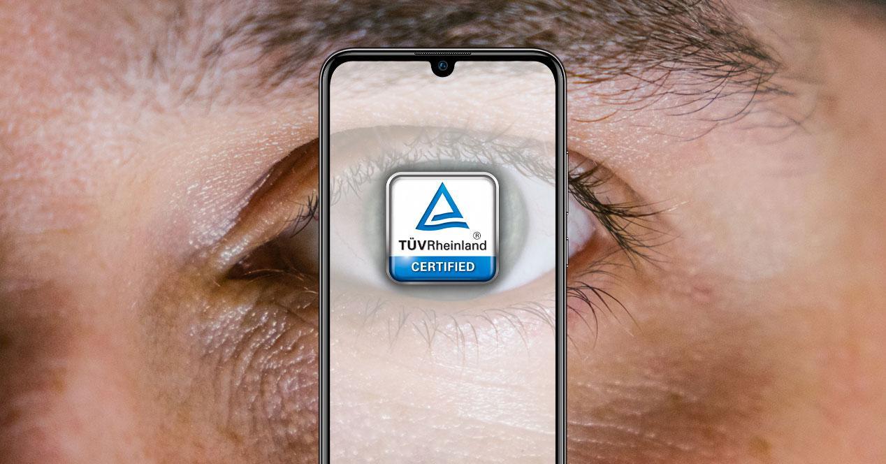 pantalla ojos TÜV Rheinland