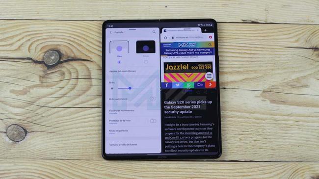 Navegador en el Galaxy Z Fold3 5G