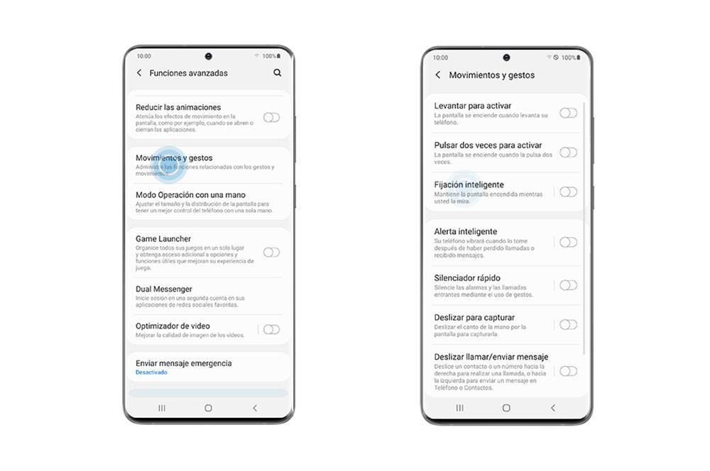 Activar Fijación inteligente Samsung