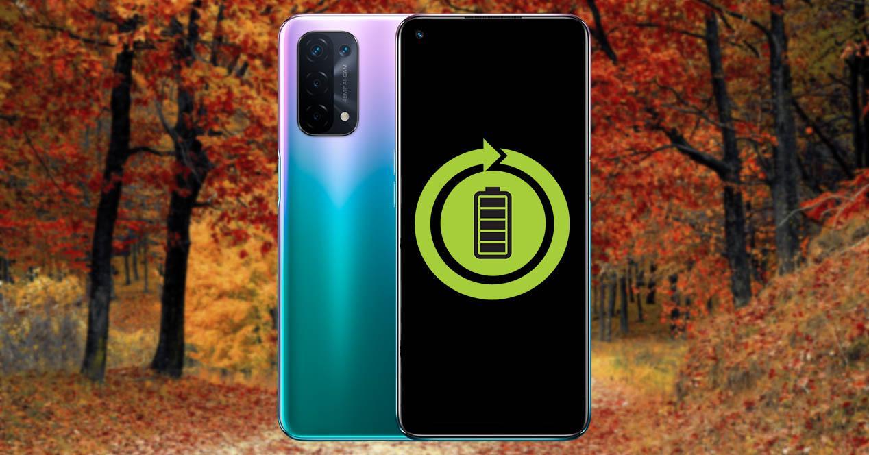 Batería del móvil otoño
