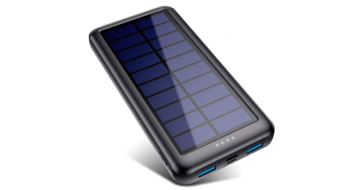 batería portátil cargador solar