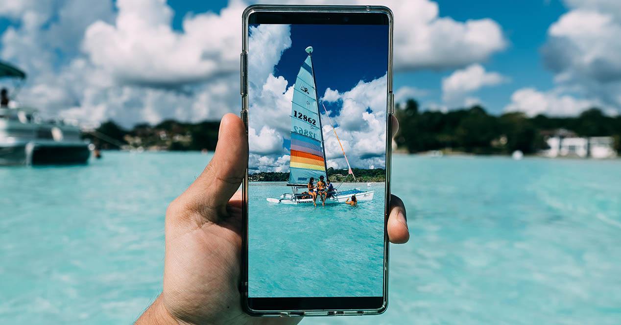 botón cámara de fotos móvil
