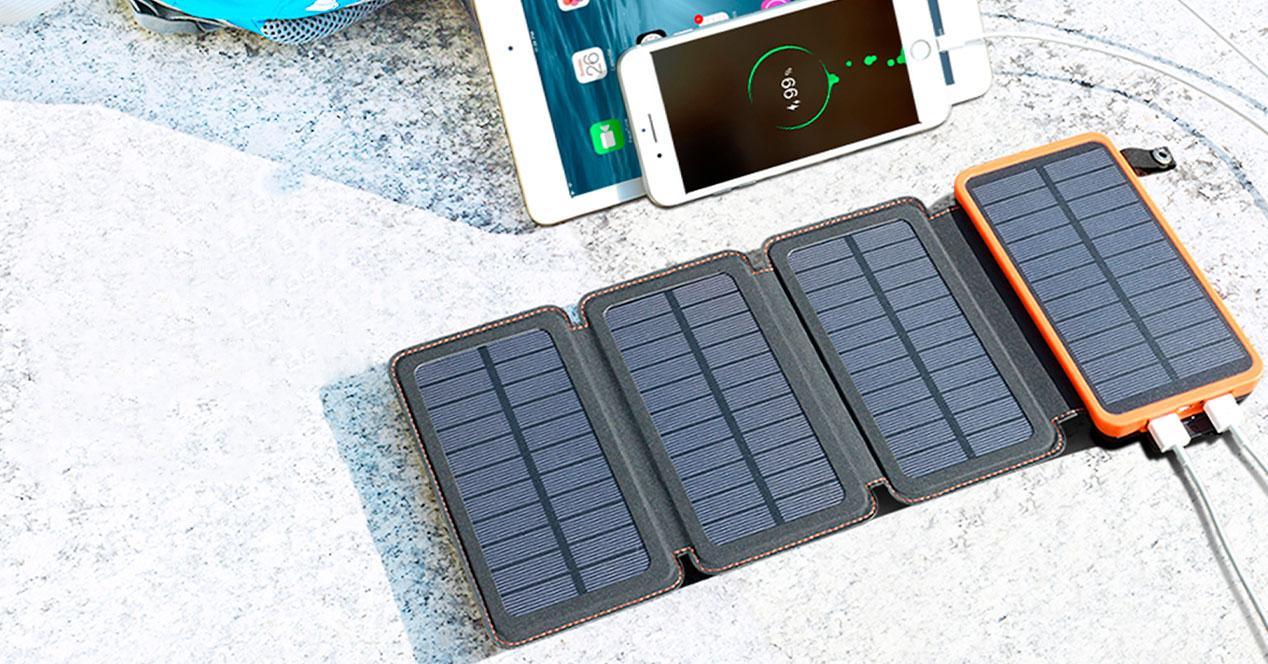 cargador placas solares movil