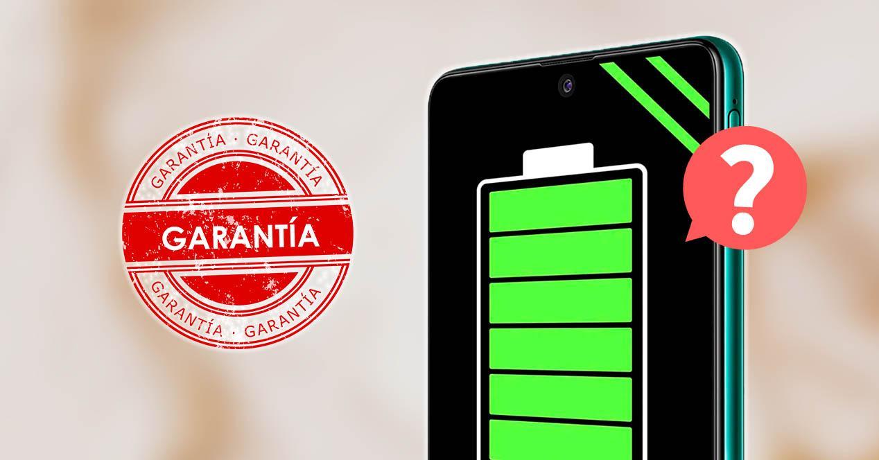 Garantía batería móviles