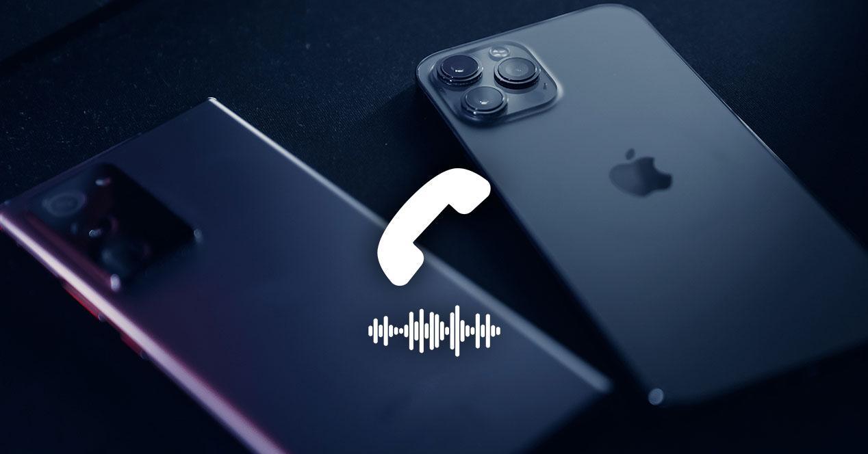llamada telefono android iphone sonido