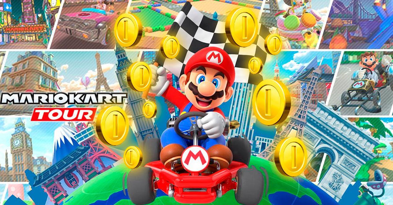 monedas carrera mario kart tour