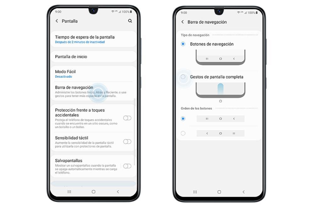 Ocultați barra de navigare Samsung