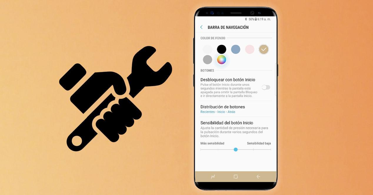Personalizar Barra navegación Samsung Galaxy