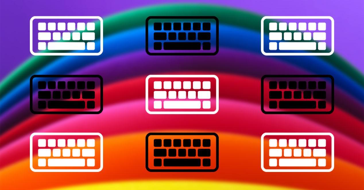 teclado color movil android