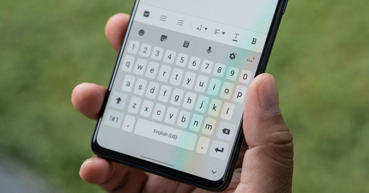 Teclado móvil Android