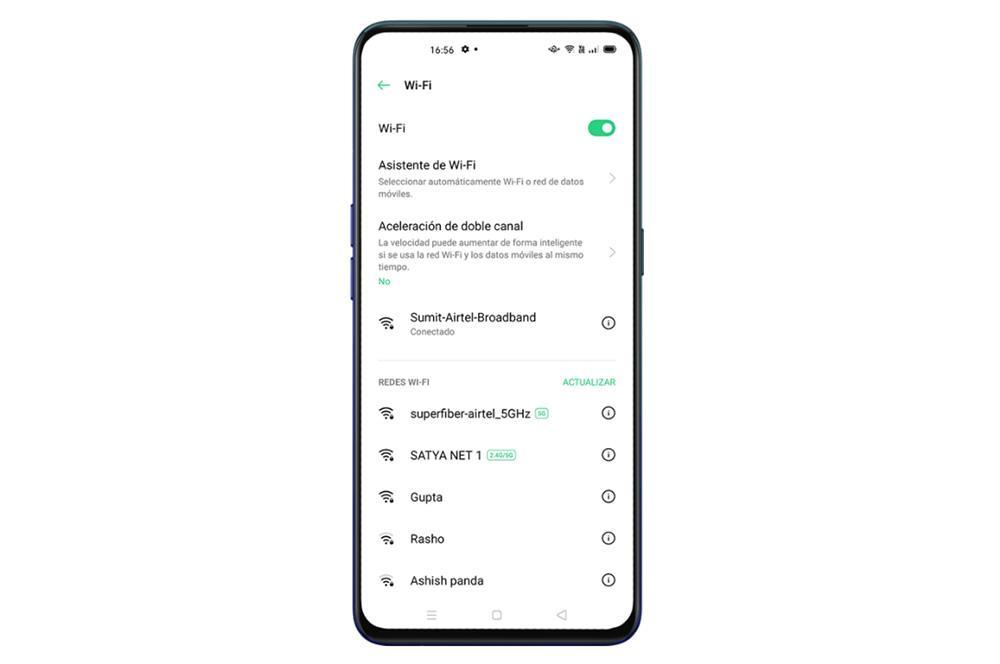 Conexión Wi-Fi móviles OPPO