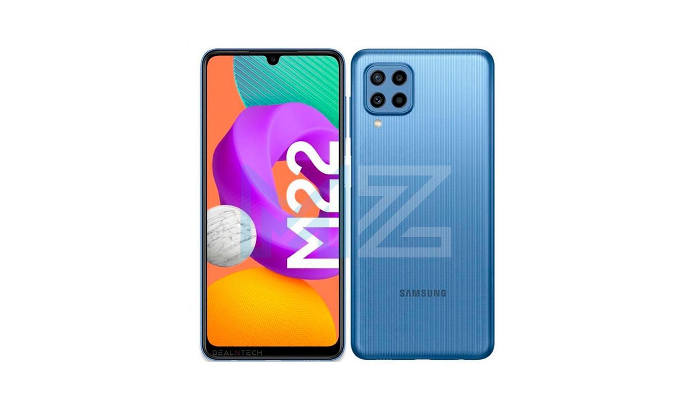 Samsung Galaxy M22 diseño
