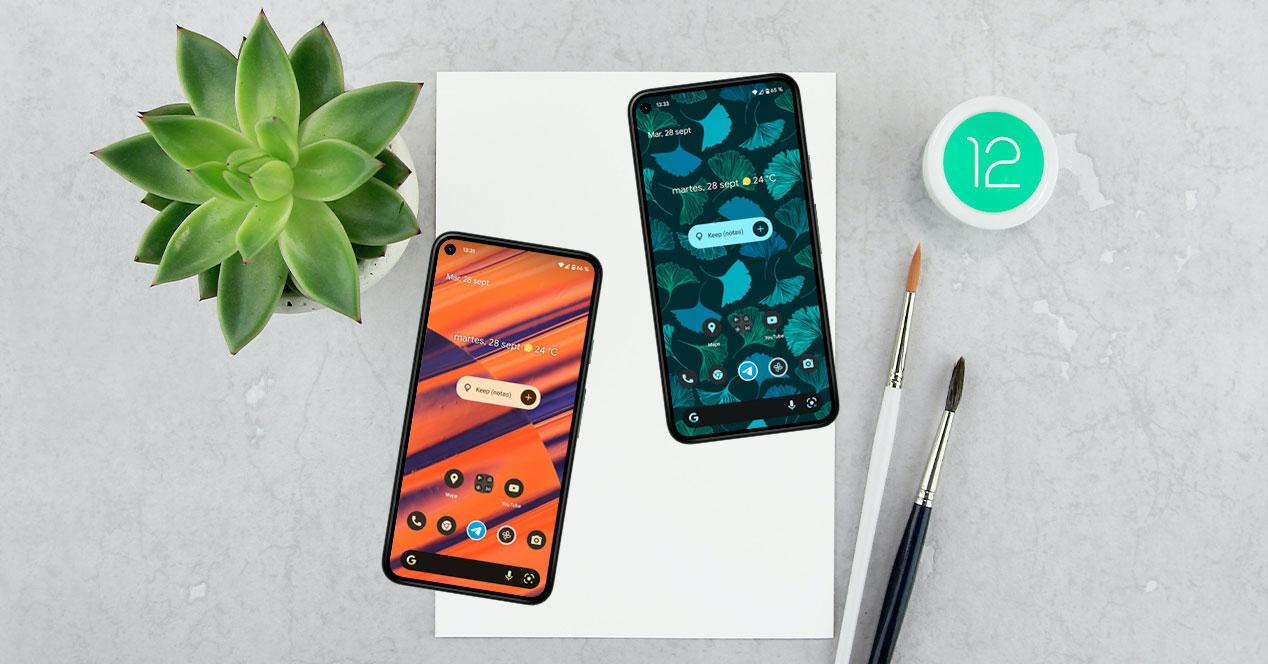 android 12 temas personalizar