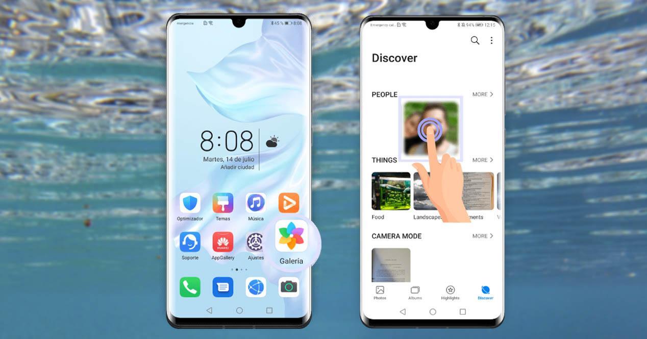 Clasificación inteligente fotos Huawei